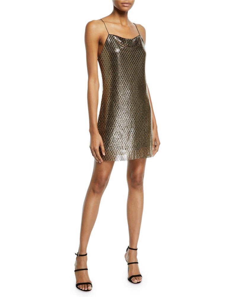 Alice + Olivia Chainmail Slip Dress