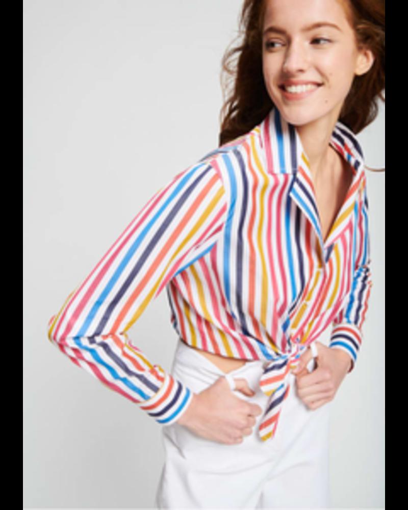 Multicolour Stripe Top/ Rainbow/ 44