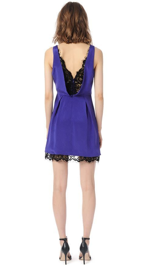 Parker NY Collins Dress/ Cobalt/ M
