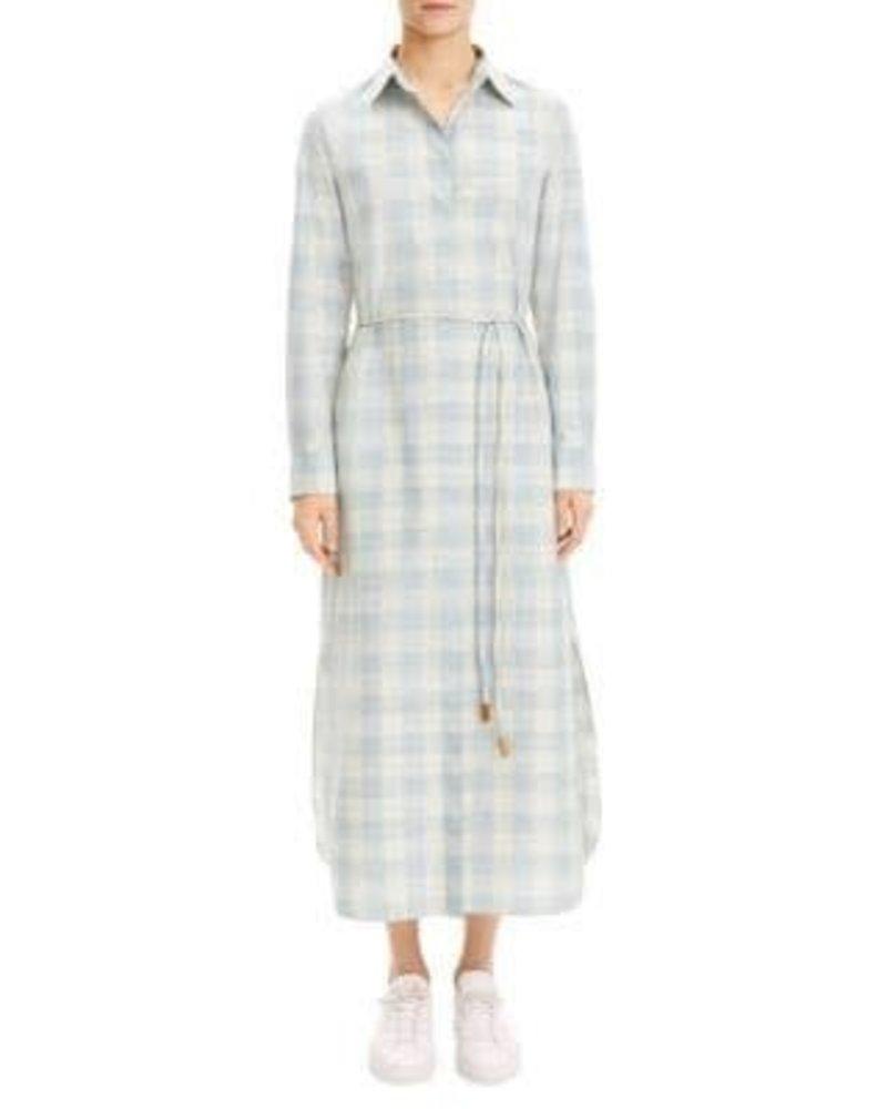 Theory Belted Maxi Shirt Dress