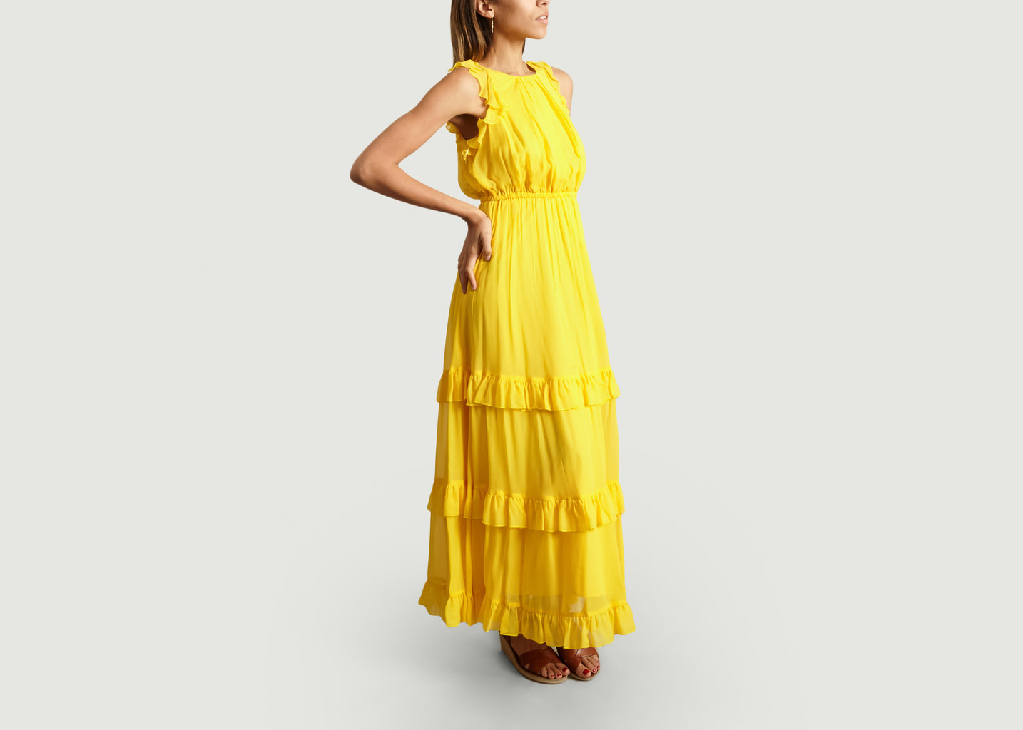 Maxi Ruffle Dress/ Yellow/ 40
