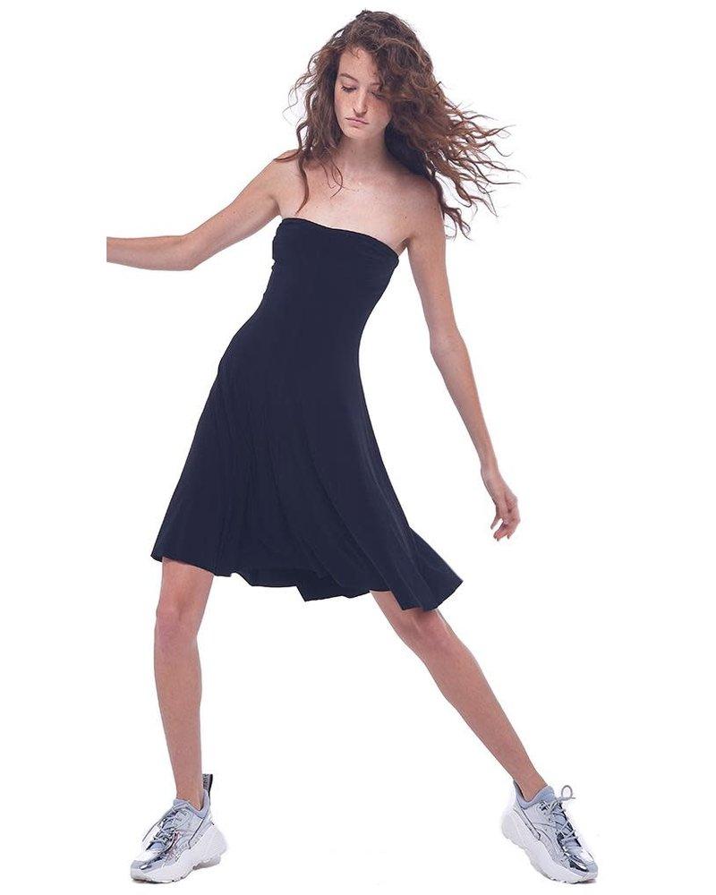 Norma Kamali Strapless Mini Swing Dress