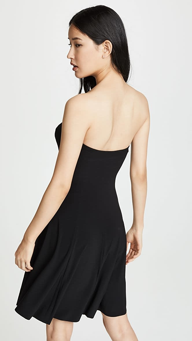 Norma Kamali Strapless Mini Swing Dress