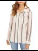 Sanctuary Boyfriend Shirt/ Multi Stripe/ L