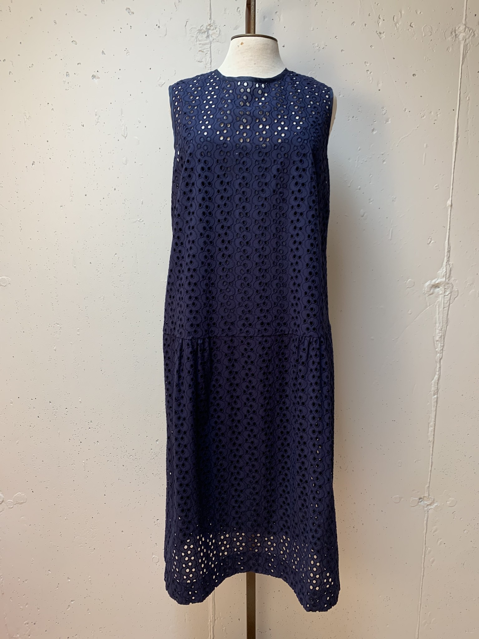 Comrags Foster Dress With Slip/ Navy/ S