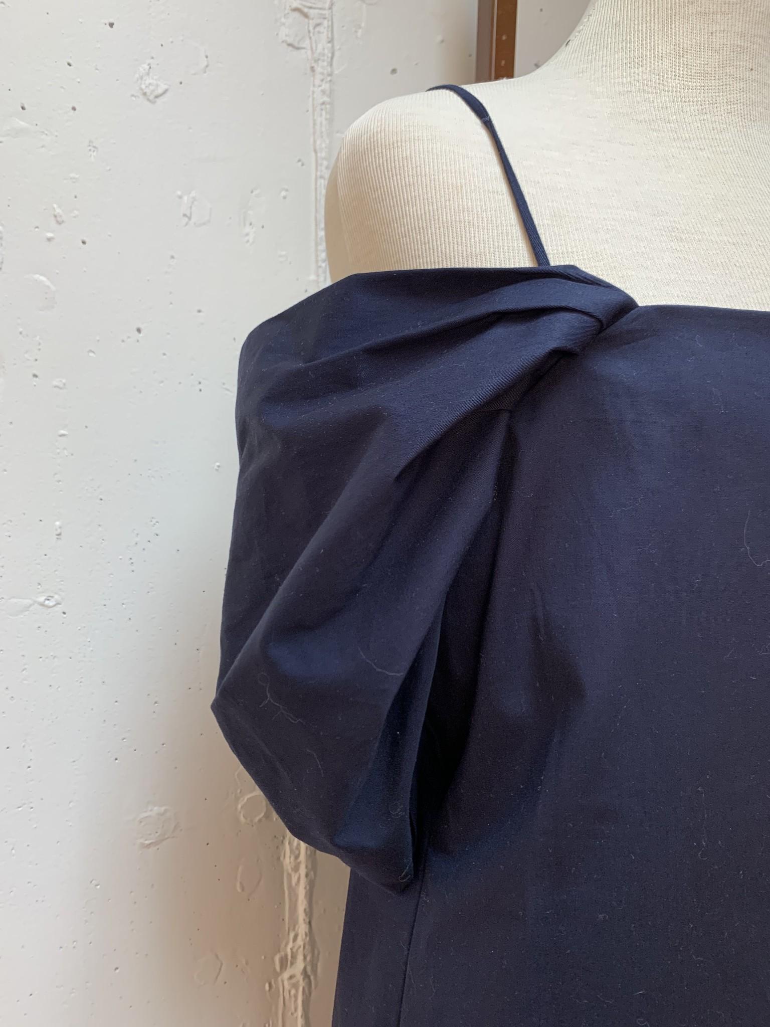 Theory Draped Sleeves Dress