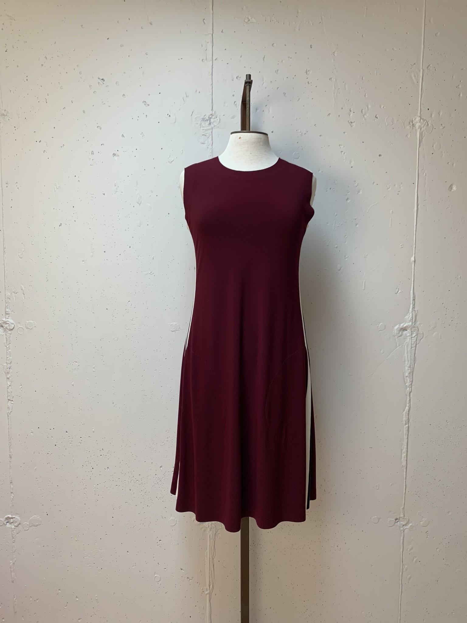 Norma Kamali Sleeveless Swing Dress/ Plum/ XXS