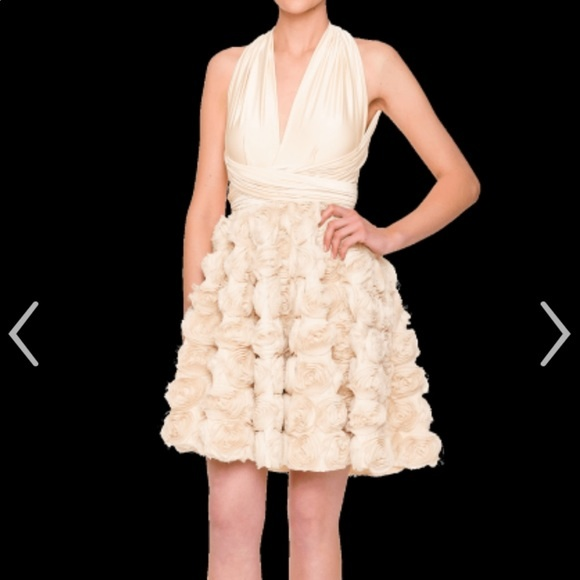 TwoBirds Short Rosette Wrap Dress