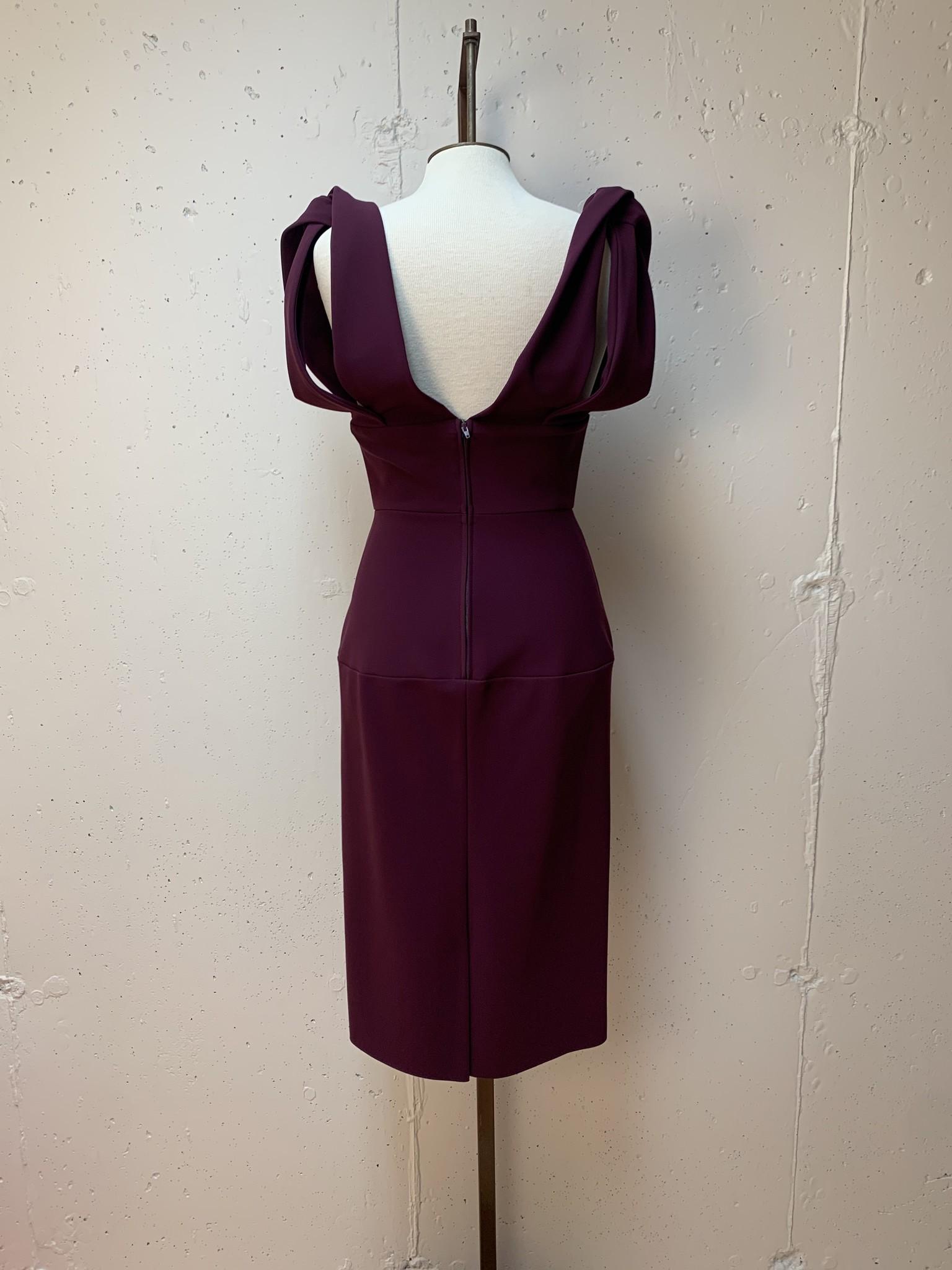 Greta Constantine Knotted Shoulder Dress
