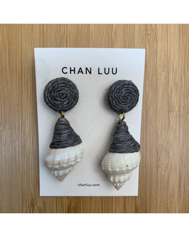 Chan Luu Raffia Shell Earrings/ Bluestone