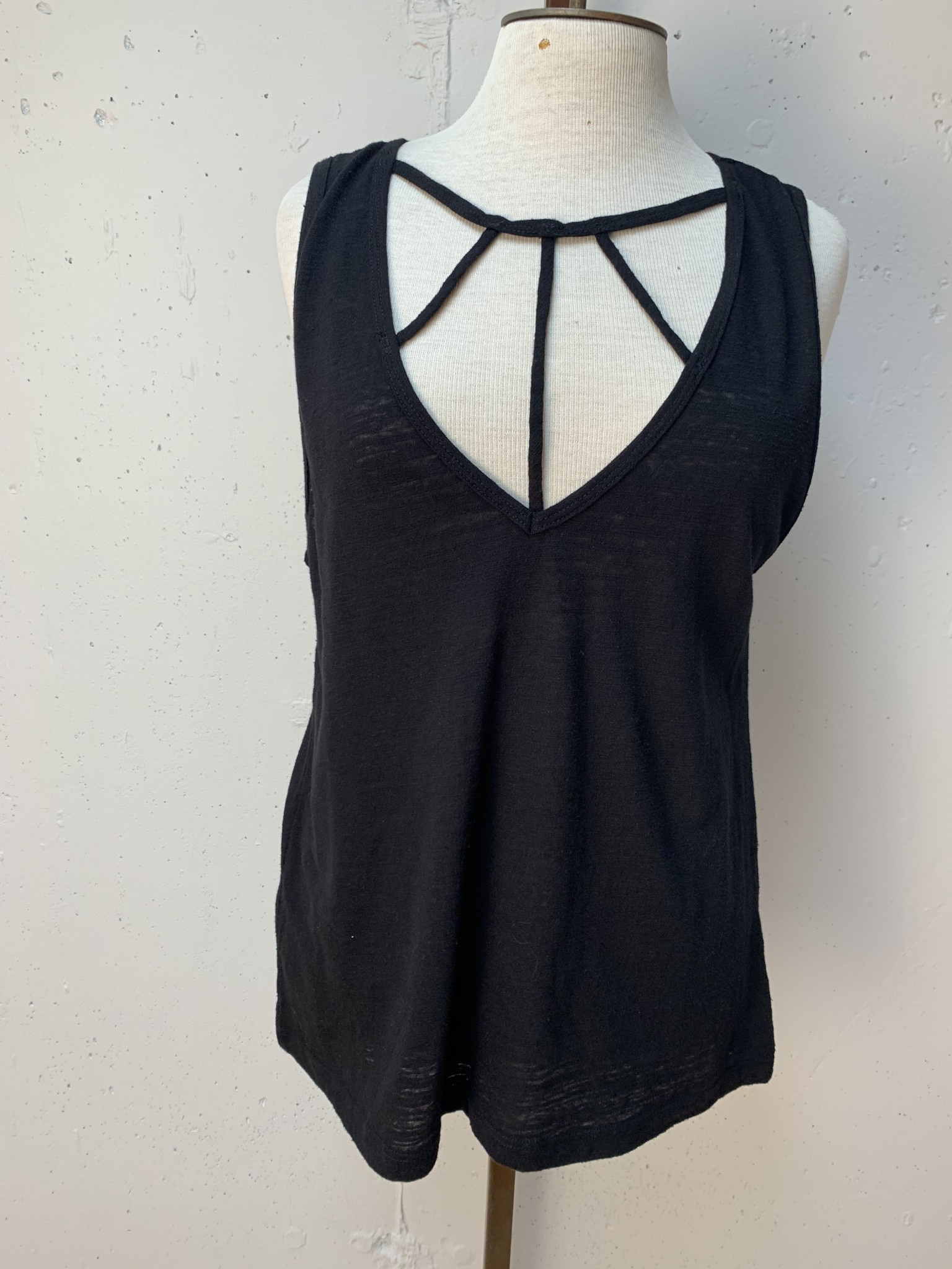 Laced Up Tank/ Black/ S