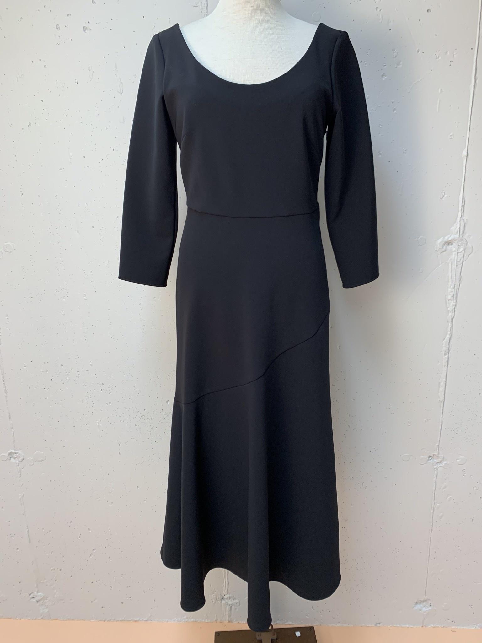 Technical Crepe Dress/ Black/ 38