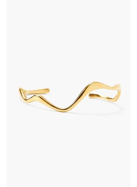Chan Luu Gold Abstract Cuff