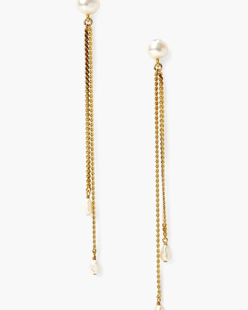 Chan Luu Gold Rope & Pearl Earrings