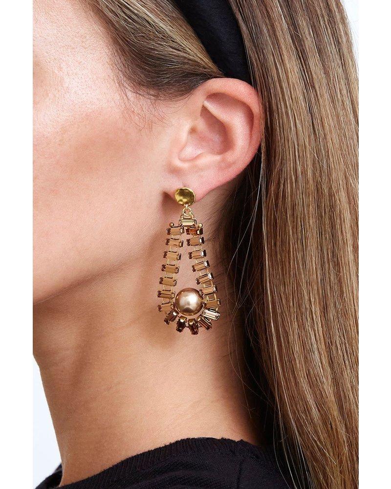 Chan Luu Topaz & Pearl Teardrop Earring