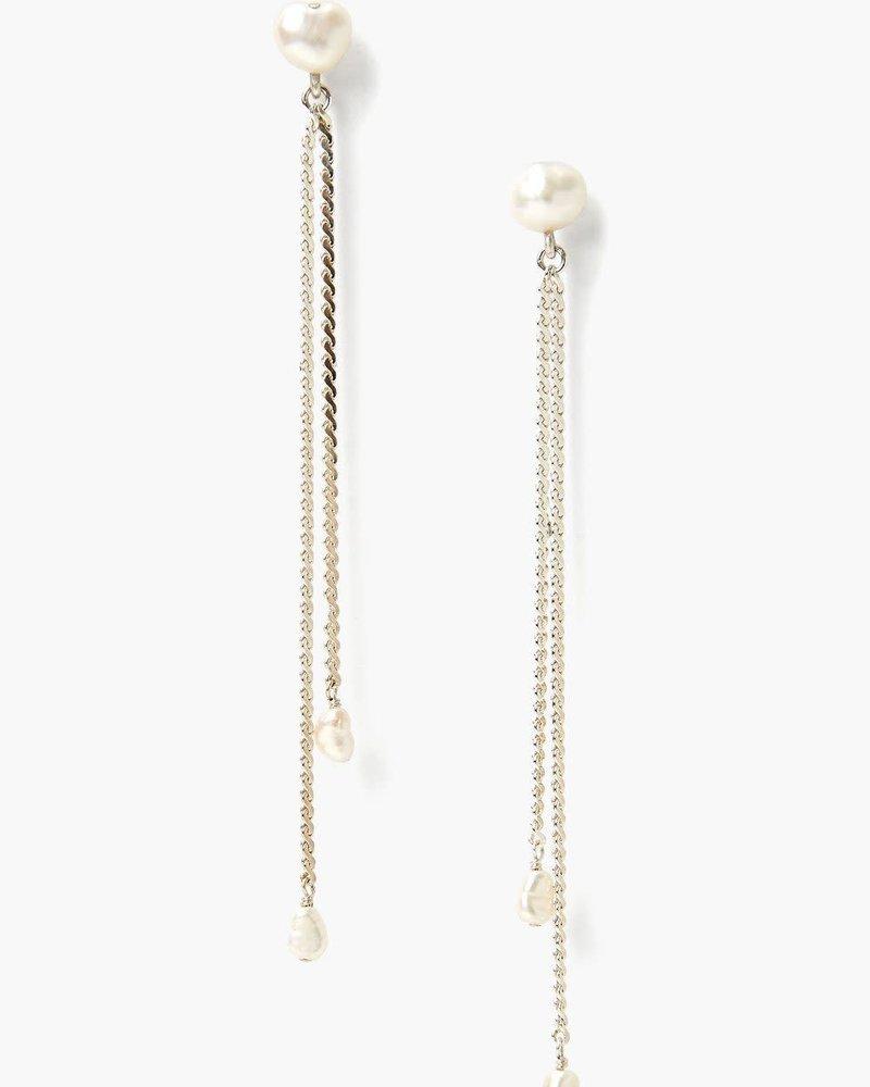 Chan Luu Silver Rope & Pearl Earrings