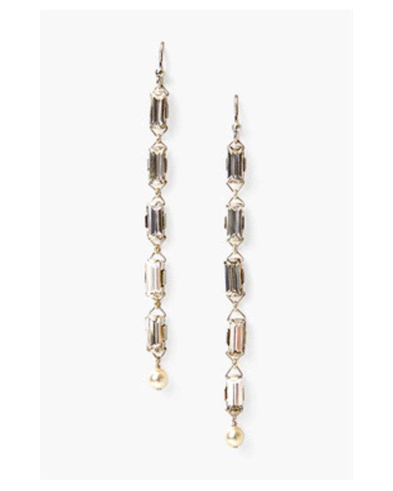 Chan Luu Silver Crystal Earrings
