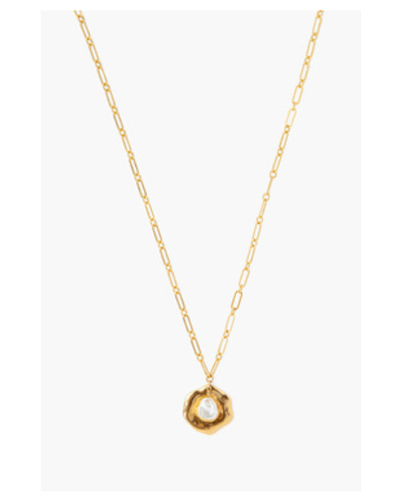 Chan Luu Pearl and Coin Necklace
