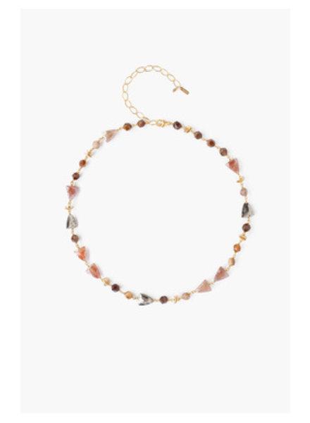 Chan Luu Strawberry Quartz Necklace