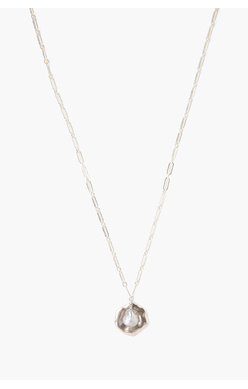 Chan Luu Grey Pearl and Coin Necklace