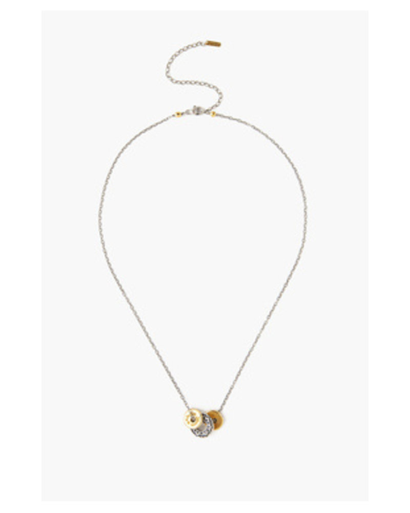 Chan Luu Silver Disc Necklace