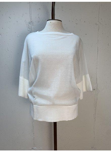 Liviana Conti Sheer Knit Top