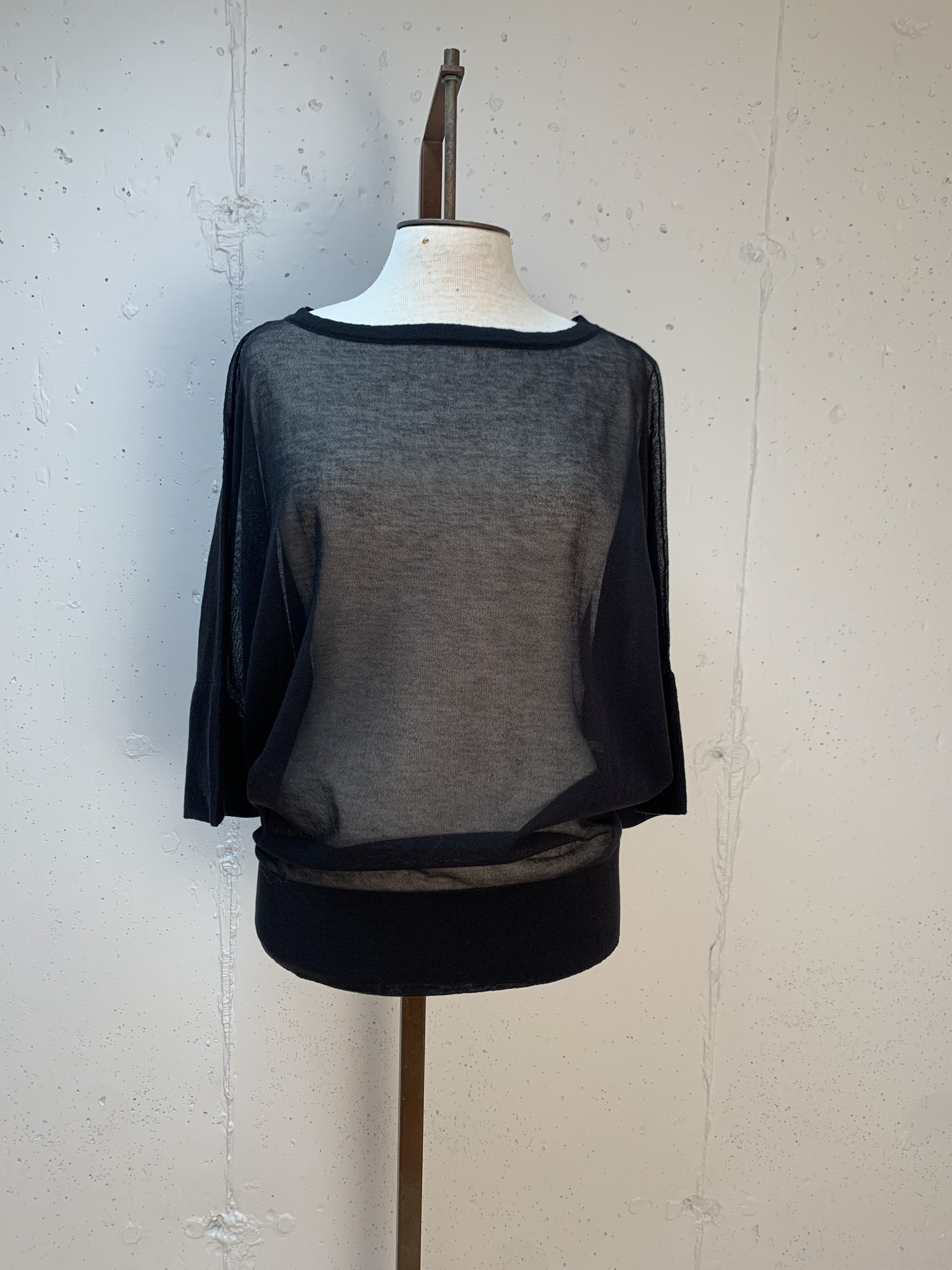 Liviana Conti Sheer Knit Top