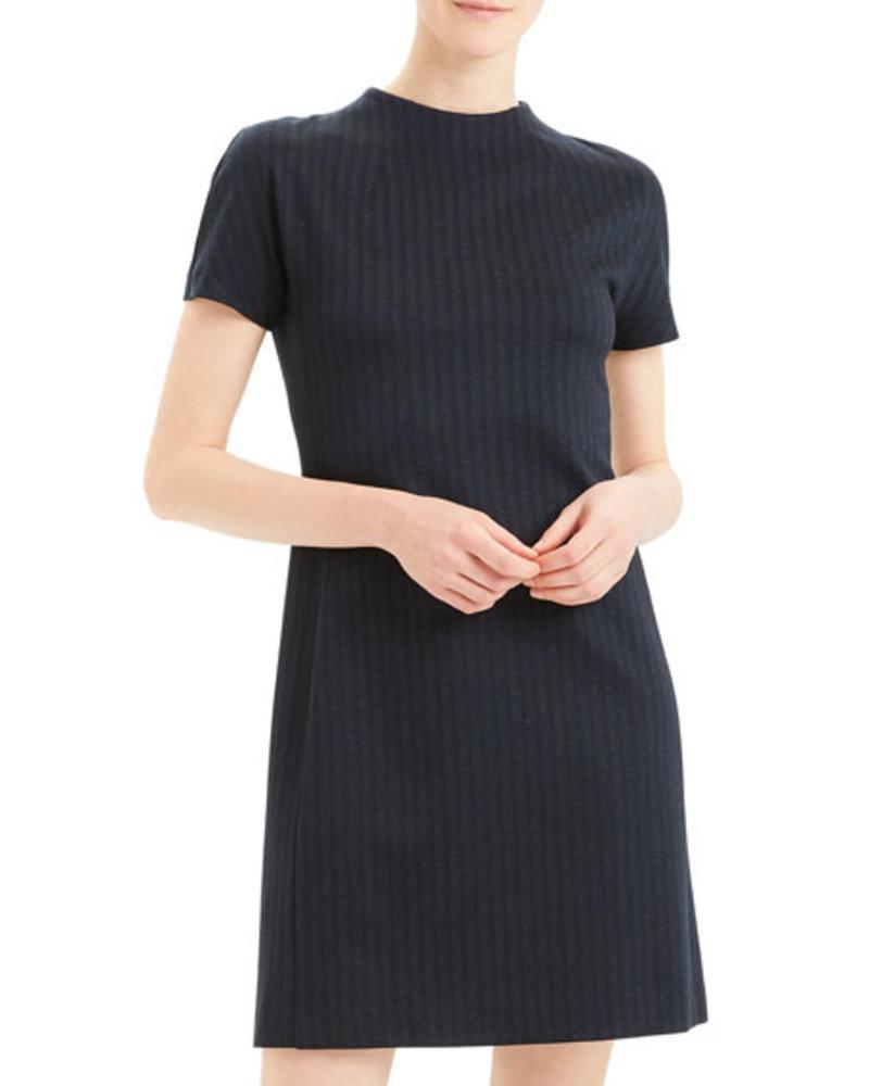 Theory Dolman Shift Dress/ Multi Stripe/ L