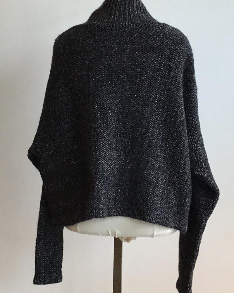 Sarah Pacini Drop Shoulder Tweed Top