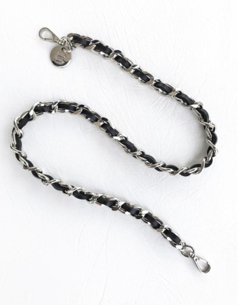 Brave Leather Hadi Mask Chain Black & Silver
