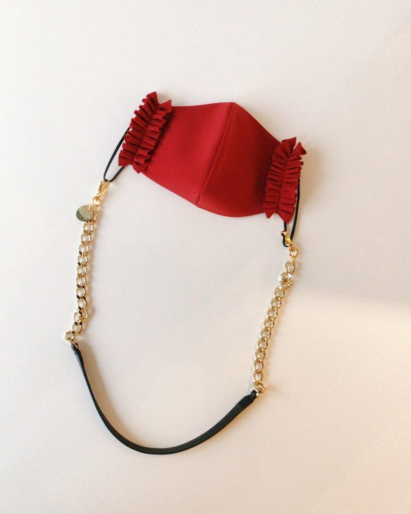 Brave Leather Kaelin Mask Chain Black & Gold