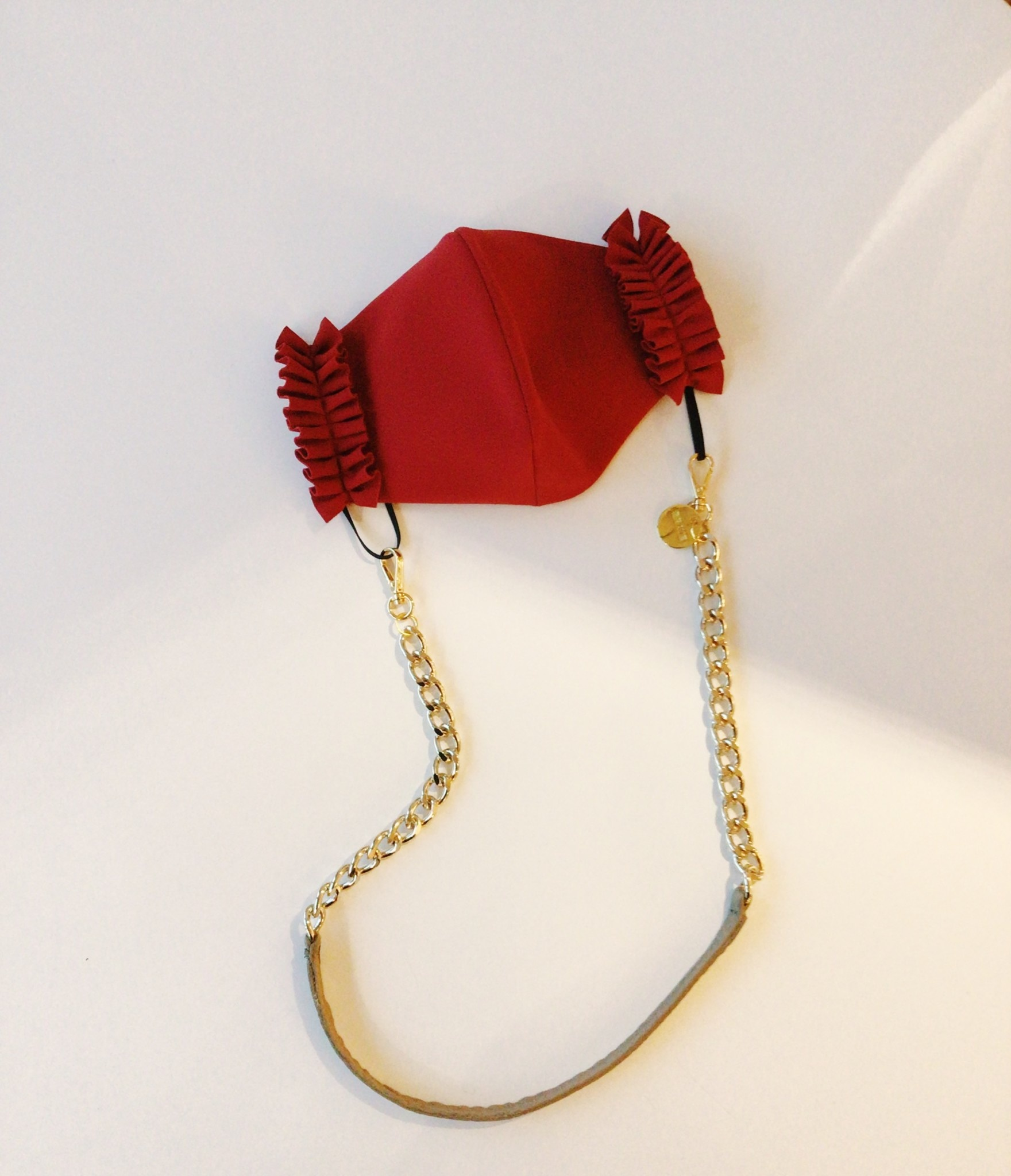 Brave Leather Kaelin Mask Chain Platypus & Gold