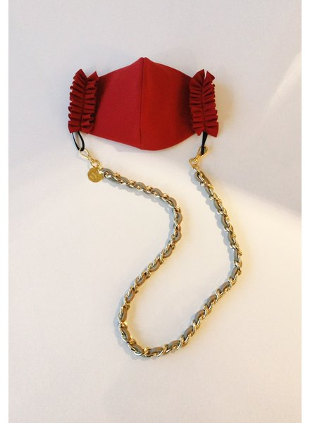Brave Leather Hadi Mask Chain Platypus & Gold