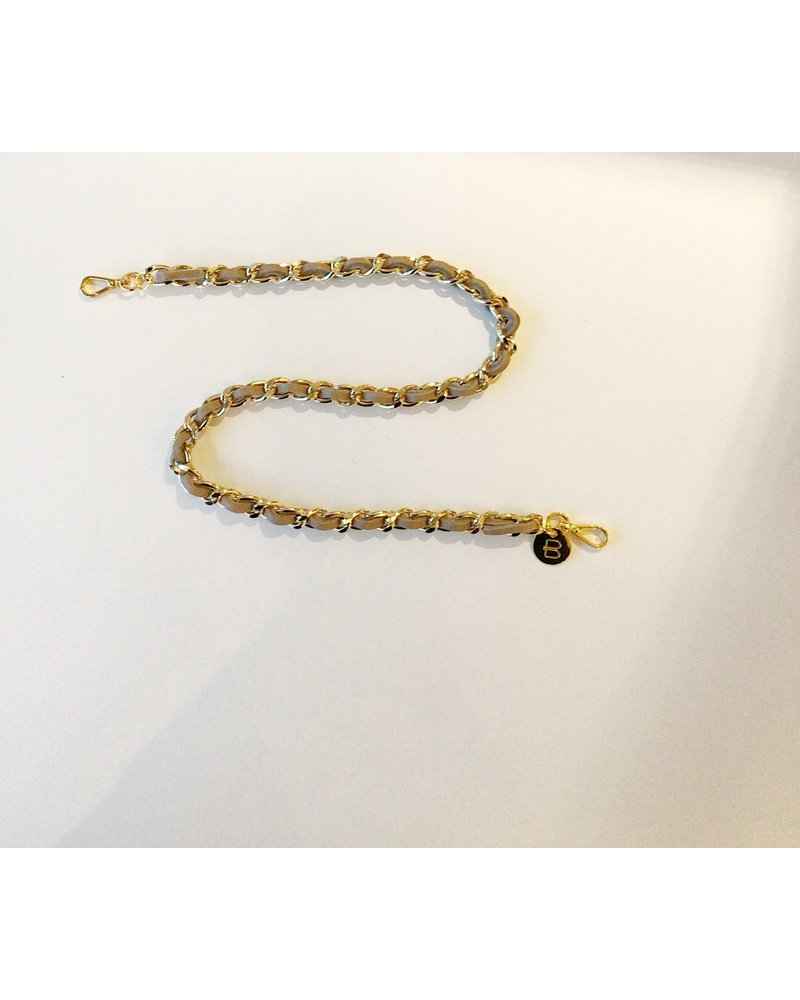 Brave Leather Hadi Mask Chain Platypus & Gold