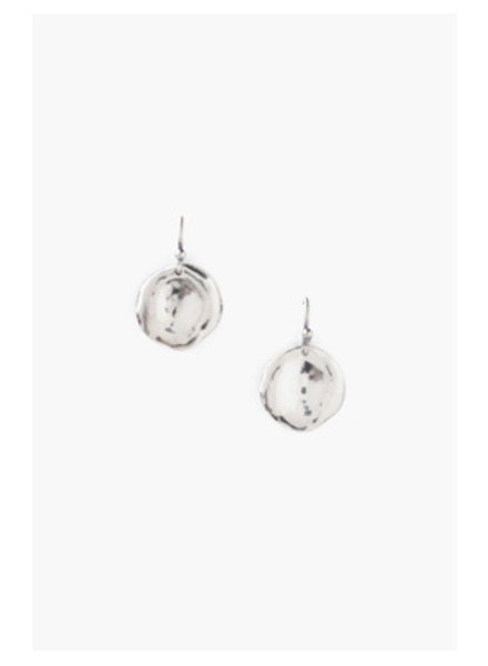 Chan Luu Silver Thumbprint Earrings
