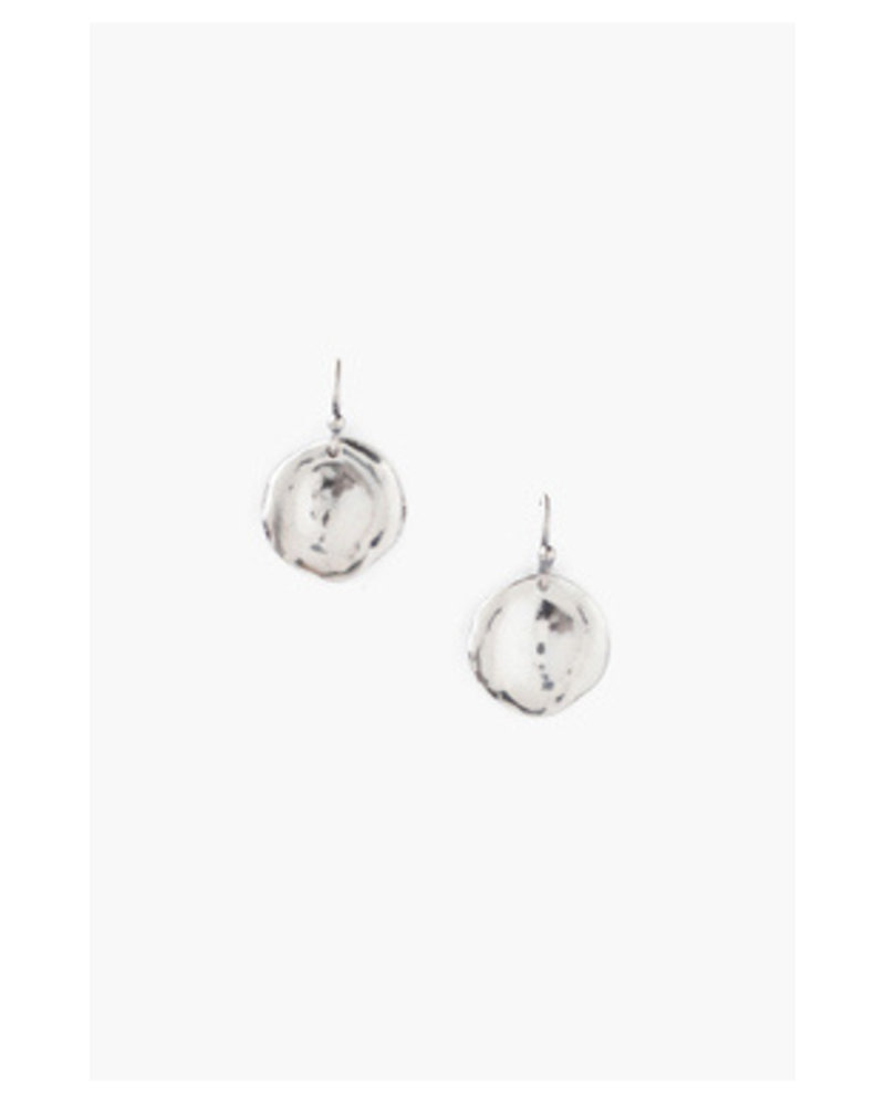 Chan Luu Silver Thumbprint Earrings