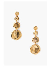 Chan Luu Tiered Coin Earrings Gold