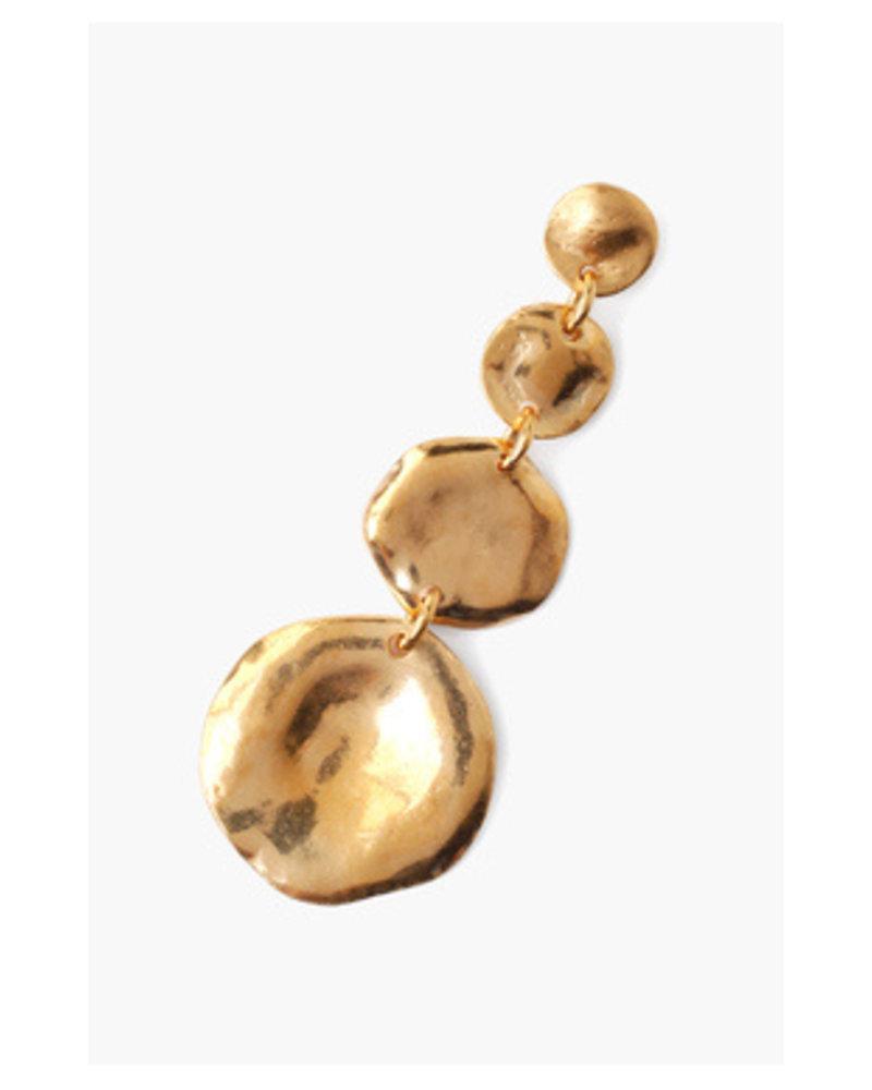 Chan Luu Tiered Coin Earrings Gold