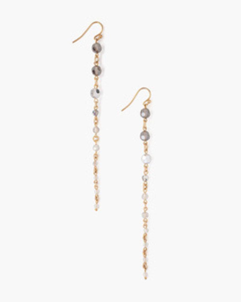 Chan Luu Crystal Earrings Gold Mix