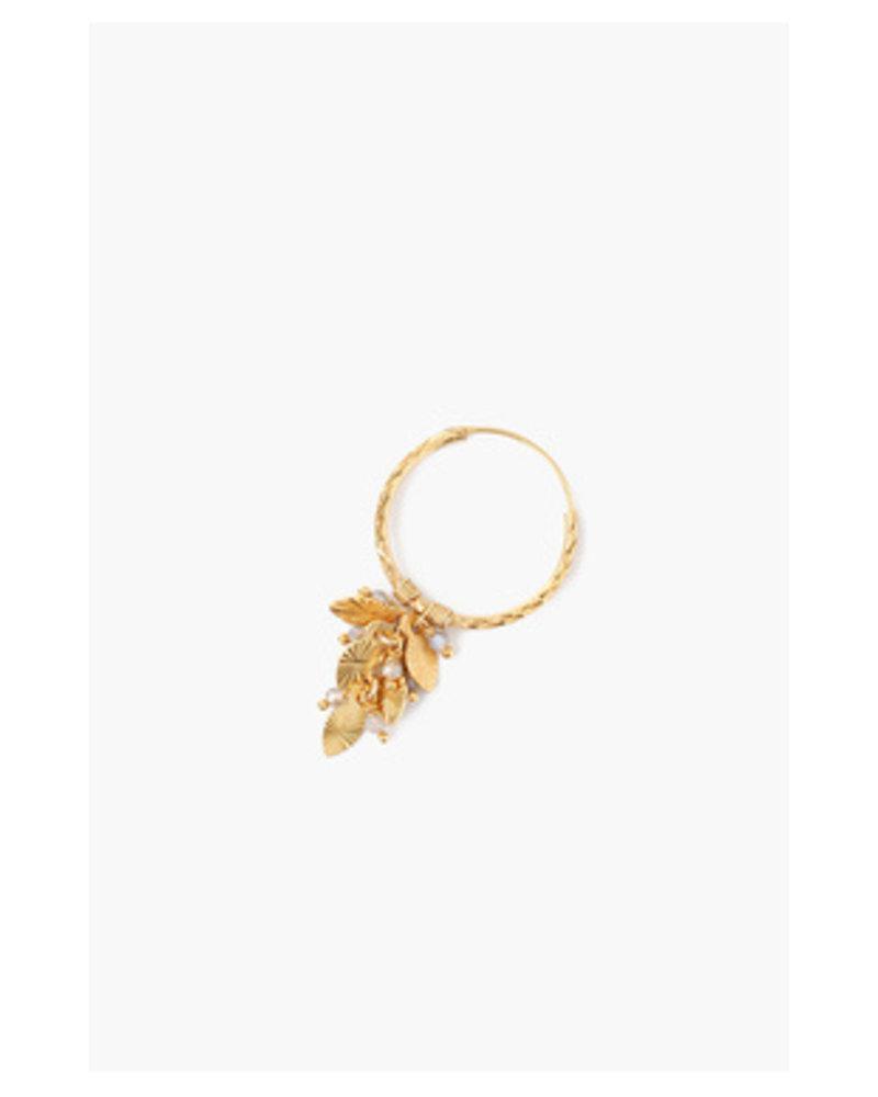 Chan Luu Leaf Charm Hoops