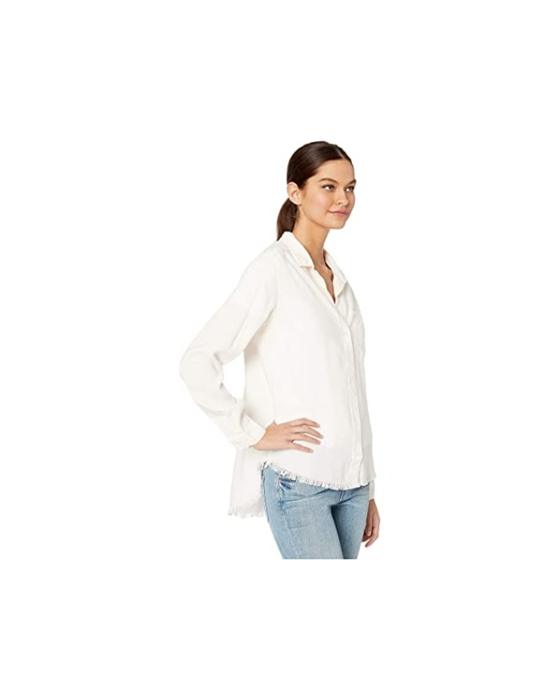 Bella Dahl Frayed Hem Shirt Tail