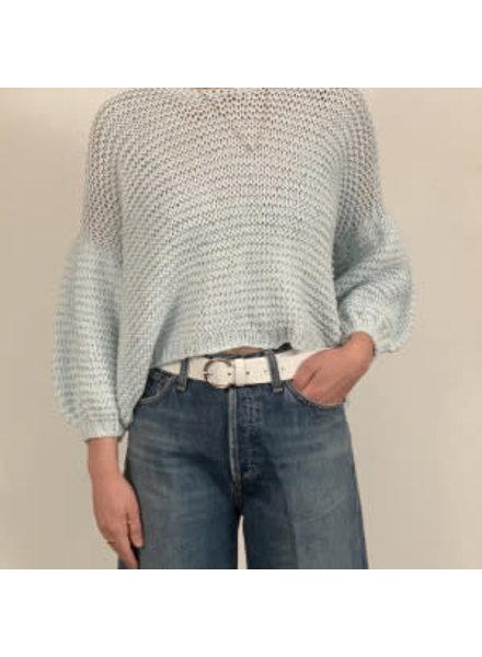 First Born Knitwear Garter V Neck Mint