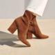 Loeffler Randall Isla Slim Ankle Boot Cacao