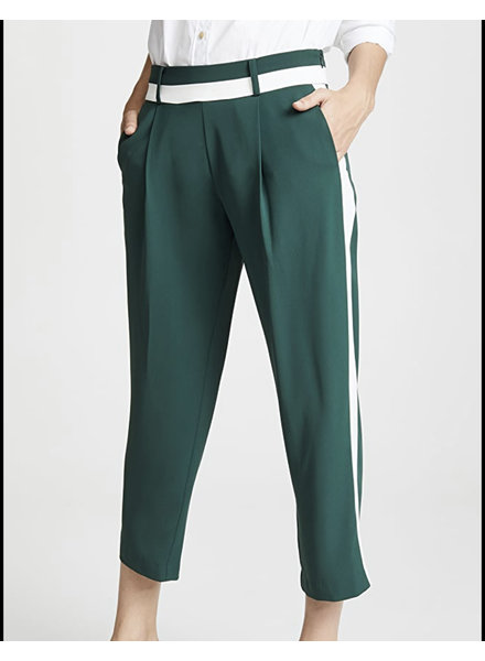 Parker NY Webster Tuxedo Pant/ Black & Ivory/ Size 8