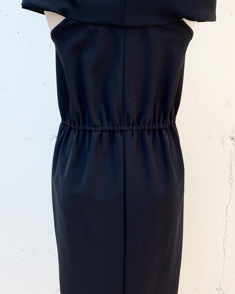 Greta Constantine Bander Dress/ Black/ L