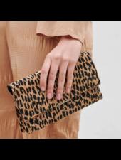Loeffler Randall Tab Clutch Leopard