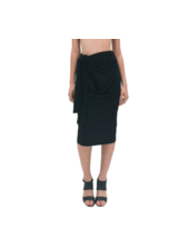 Norma Kamali Ty Front Skirt (All In One)
