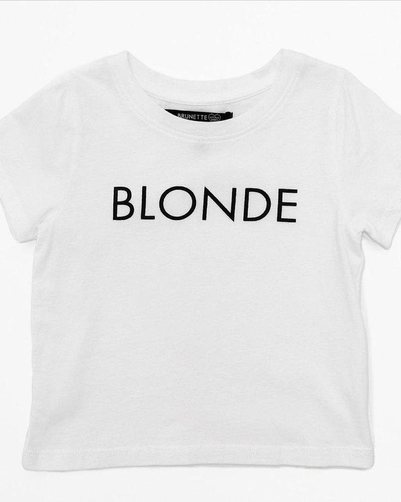 Brunette The Label Kids Blonde Tee