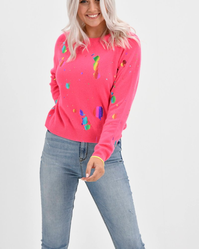 Brodie Cashmere Shout Out Mini Sweat Top