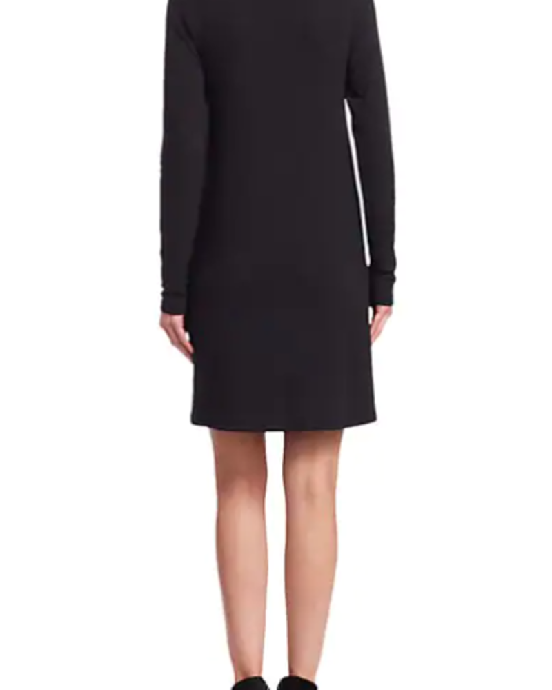 Majestic French Terry Turtleneck Dress